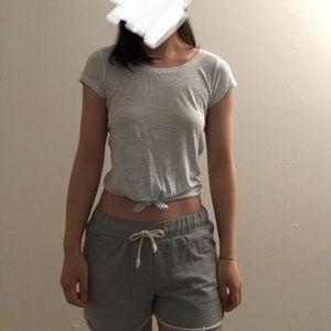 [Hollister] pale green crop top
